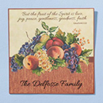 Personalized 12x12 Family Faith Metal Wall Plaque
