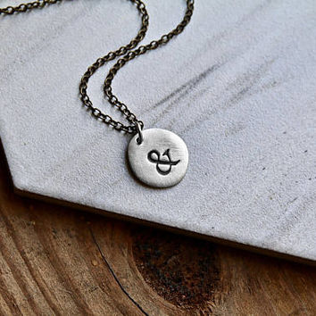 Ampersand Necklace - Meaningful Message Necklace - Men's Necklace - Unisex Jewelry - Symbol Necklace by Modern Out