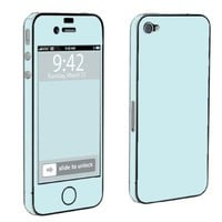 Apple iPhone 4 or 4s Full Body Decal Vinyl Skin - Ice Blue By SkinGuardz