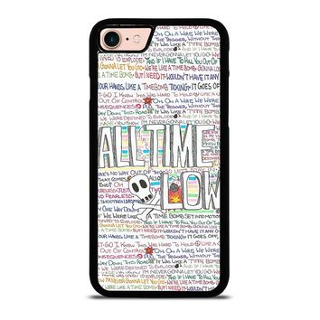 ALL TIME LOW WRITTING iPhone 8 Case Cover