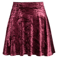 H&M Skirt in Crushed Velvet $14.99