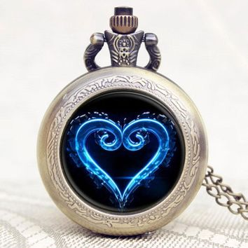 Kingdom Hearts Heart Symbol Pocket Watch