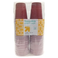 Disposable Red Plastic Cups - 18oz - 72ct - up & up™