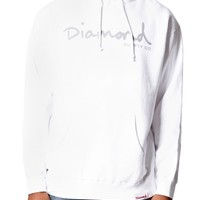 Diamond Supply Co Basic Script Hoodie - Mens Hoodie - White