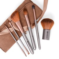 Quality 6pc Professional Makeup Brush Set Plus Case. Everything you will need for that Glamorous Look. Makeup Brush Set Includes: Kabuki Brush, Dual Eye/Lip Brush, Dual Eyebrow/Shadow Brush, Blending Brush, Foundation Brush and Angled Blush Brush. Backed b