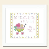 Baby Birth Record Madie -  PDF Cross Stitch Pattern - INSTANT DOWNLOAD