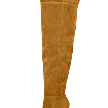 Alba Over Thigh High Boot (Camel)