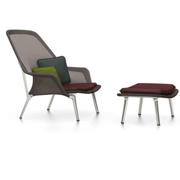 Slow Chair and Ottoman by Vitra