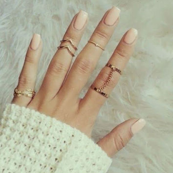 A Set New Design Fashion Women Silver Crystal Ring Wedding Engagement Gift Jewelry = 5988147137