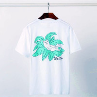 RIPNDIP 2017 new summer tide card cheap cat coconut pockets cat men and women lovers cotton round neck short sleeve t-shirt