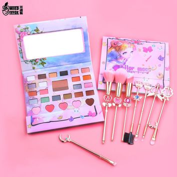 27 Color Cute Anime Sailor Moon Eyeshadow Pallete Lazy Eyeshadow Powder Professional Nature Make up Shining Eye Shadow Girl Gift