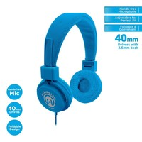 HyperGear Blue Stereo Headphones w/ Mic 3.5mm
