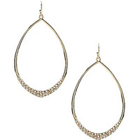Jessica Simpson Teardrop Pave Earrings - Crystal/Silver