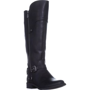 G by Guess Harson Wide Calf Flat Knee-High Boots, Black Multi, 7 US