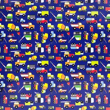 Kids Birthday Gift Wrap Wrapping Paper, Trucks (8 Rolls 5ft x 30in)
