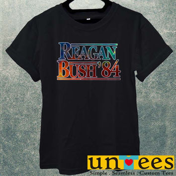 Low Price Men's Adult T-Shirt - Reagan Bush 84 Election Classic Galaxy design