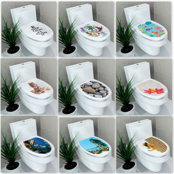 3D Wall Sticker Hole View Bathroom Toilet Living Room Home Decor Decal Poster Background