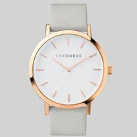 Polished Rose Gold / White Face / Grey Band | New Arrivals | The Horse