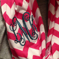 Monogrammed Chevron Infinity Scarf Knit