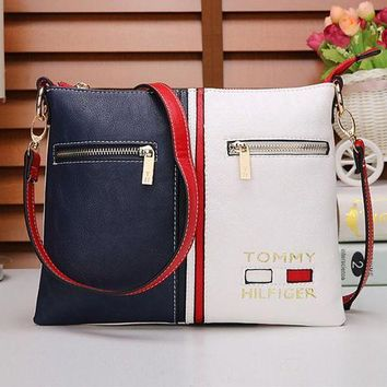 ICIKXT7 Tommy Hilfiger' Women Casual Personality Fashion Multicolor Single Shoulder Messenger Bag