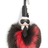 Fendi 'Pompom Karl' Genuine Fox Fur & Leather Bag Charm | Nordstrom
