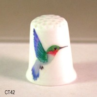 Hummingbird Collectible Thimbles, Handmade Thimbles, Thimble Collection, Hummingbird Thimble