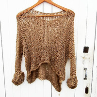 Chunky knit sweater. Oversize women sweater. Loose sweater.