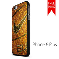 Nike Basket Ball Gold Glitter iPhone 6 Plus Case