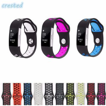 VOND4H CRESTED sport watch band Strap for fitbit charge 2 band Silicone strap For Fitbit charge 2 bracelet smart wristbands Accessories