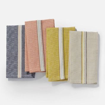 Textured Grid Kitchen Towel Set
