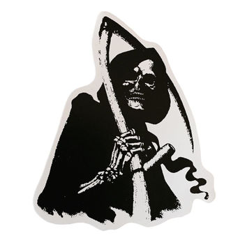 Grim Reaper With Sickle Decal Sticker