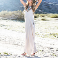 Sexy Women Summer Boho Long Maxi Dress Beach Dress Sundress Solid Color S M L