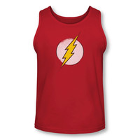 The Flash Distressed Logo Adult Tank Top