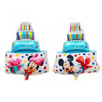 Minnie/Mickey Mouse Birthday Cake Balloons