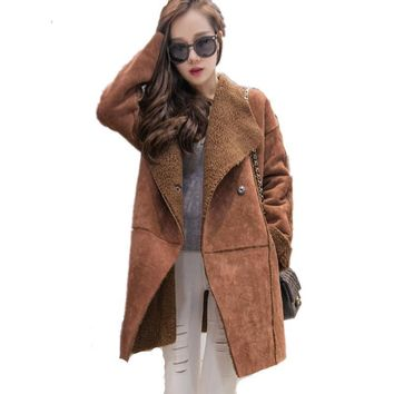 Winter Jacket Women Thick Coats Lamb's Wool Parkas Mujer Suede Winter Coat Women Warm Cotton Jacket Female Plus Size 4XL C2577