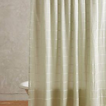 NWT Anthropologie Masula Shower Curtain - Mint