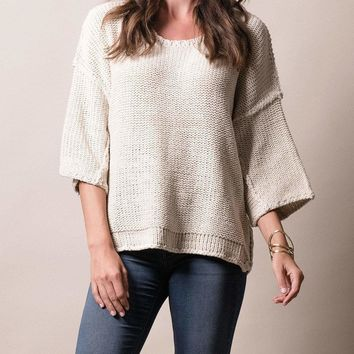 Easy Going Knit Sweater
