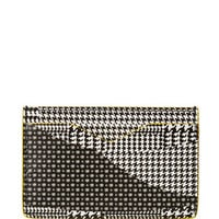 Alexander McQueen Plaid Houndstooth Leather Card Holder