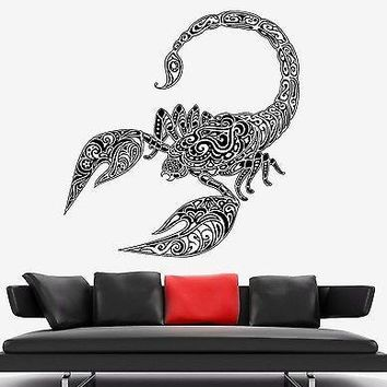 Wall Vinyl Scorpio Predator Aggressive Symbol Ornament Mural Vinyl Decal Unique Gift (z3348)