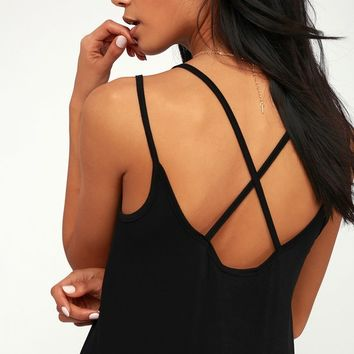 Encino Black Tank Top