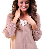 Classic Taupe Blouse | The Rage