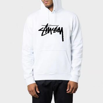 DCCK2 597 Stussy Classic Fashion Causal Sports Loose Hoodie White