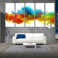 Abstract wall art canvas, large canvas print, colorful Large wall Art, large canvas print, extra large wall art, Art canvas print t286