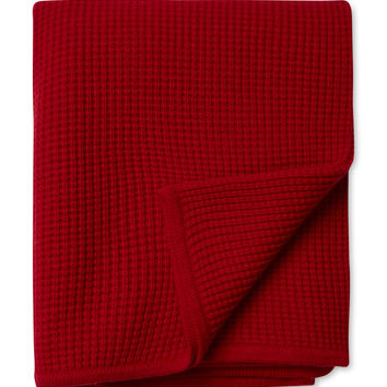Sofia Cashmere Thermal Cashmere Throw - Red