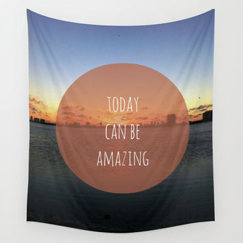 Amazing Day Wall Tapestry by Bunhugger Design