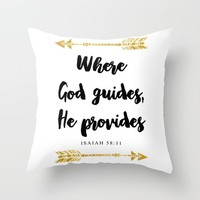 Isaiah 58:11 Bible Verse Throw Pillow by Jake Rhodes