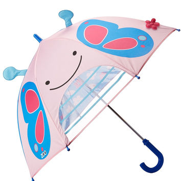 Skip Hop Little Kid and Toddler Girls' Zoo Umbrella Blossom Butterfly One Size