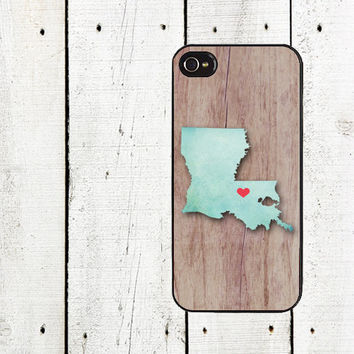 Personalized State Map Phone Case for iphone 5 iphone 5s iphone 5c faux wood  iphone 4 iphone 4s samsung galaxy s3  samsung galaxy s4 teal