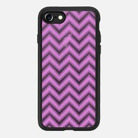 Glitter Pink Chevron Transparent iPhone 7 Case by Alice Gosling | Casetify