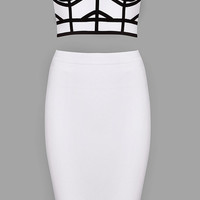 Chantilly Bandage Two Piece - White